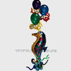 """Букет из воздушных шаров """"Морские друзья"""""""