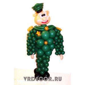 Полковник из шаров на 23 февраля