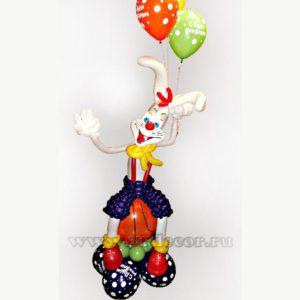 """Фигура из воздушных шаров """"Заяц-баскетболист"""""""