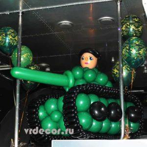 Танк из шаров
