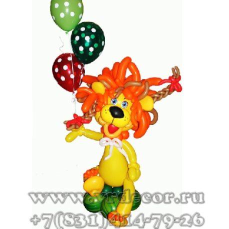 Львенок-девочка из воздушных шаров
